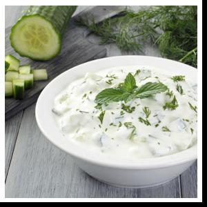 Salsa tzatziki con cetriolo bio